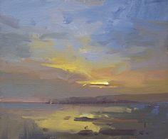 David Atkins Last Light, Kimmeridge Oil on Canvas Over Board 25 x 30 cm Sky Painting, Seascape Paintings, Artist Painting, Landscape Paintings, Watercolor Landscape, Abstract Landscape, Abstract Art, Art Pages, Art Oil