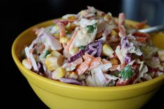 Southwestern Slaw - like this idea but with, no corn and add spices to my slaw dressing