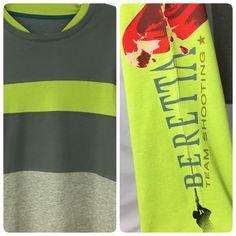 Beretta Gun T-shirt Sniper Riffle Firearms Logo 4XL Long Sleeve Gray Green New #Beretta #GraphicTee