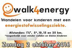 Oranjedorp - Jong en oud wandelt mee voor Noortje, Anouk, Ilse, Susan, Kim, Hilde, ...... Doe zondag 2 oktober mee voor Energy4Kids!
