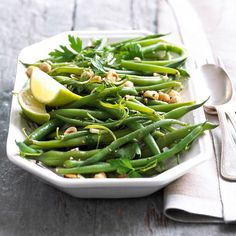 We have loads of green beans in our garden - this looks like a recipe we will enjoy: Green Beans with Lime