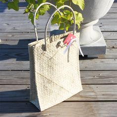 Palm Leaf Out-of-Town Welcome Bags -details  --goodthingsweddingfavors.com.  for a single person