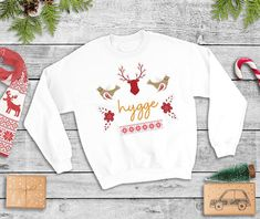 Hygge Sweatshirt Tis The Season To Be Hygge Scandinavian | Etsy Iron Decor, Scandinavian Christmas, Christmas Shirts, Tis The Season, Hygge, Rib Knit, Graphic Sweatshirt, Seasons, Sweatshirts