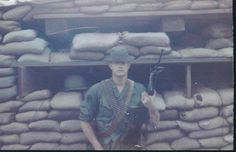 Perimeter guard 11th ACR  basecamp spring 1968 Long Gaio Vietnam.