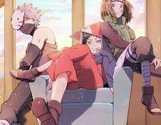 Naruto Minato, Anime Naruto, Team Minato, Kakashi And Obito, Naruto Teams, Naruto Fan Art, Naruto Comic, Naruto Cute, Naruto Shippuden Anime