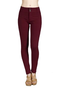 Pair deep red pants with a cream knit sweater for a spicy fall look. <3 Outlet77