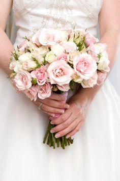 Romantic pale rose bouquet.