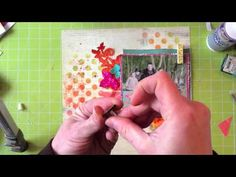 Video by Marie-Nicolas Alliot for Prima, masking, stamping and coloring techniques