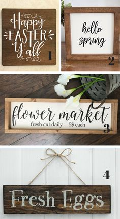 Easter and Spring Farmhouse Signs