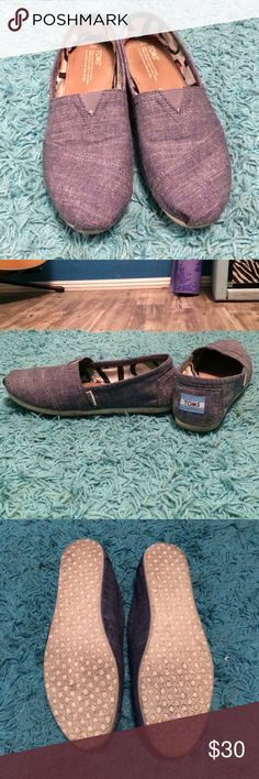 Chambray Blue TOMS. Size 8 wide. Toms size 8W. Wore 3 times but it doesn't match anything in my wardrobe. Like new besides slight wear on the bottom. Regular Toms fabric but looks like blue jean material. TOMS Shoes Flats & Loafers