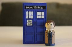 Doctor Who and Tardis Peg Doll and Case