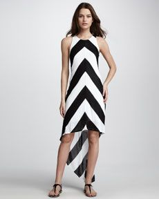 Cant go wrong with Black & White!  Ella Moss Vida High-Low Dress $158.00