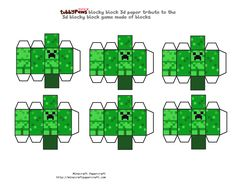 Minecraft Papercraft Tubbypaws Army of Creepers