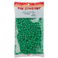 The Beadery 6 by 9mm Barrel Pony Bead, Green, 900-Pieces ...