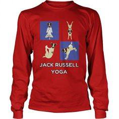 JACK RUSSELL YOGA Long Sleeve Tees T-Shirts, Hoodies ==►► Click Image to Shopping NOW!