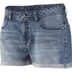 $46, Blue Denim Shorts: adidas Denim Shorts. Sold by adidas. Click for more info: https://lookastic.com/women/shop_items/280434/redirect