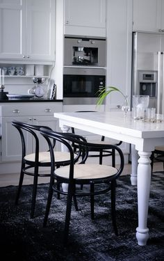 Dining table, monochrome