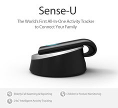 Sense-U: the World's First All-in-One Activity Tracker to Connect Your Family | Indiegogo -- Fall detection, heartrate, activity monitor