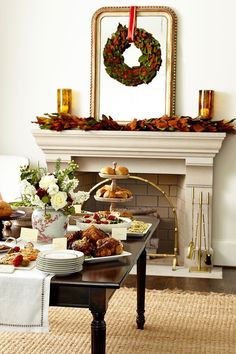 How to Set up a buffet on a dining table or sideboard for parties or family gatherings - Ballard Designs