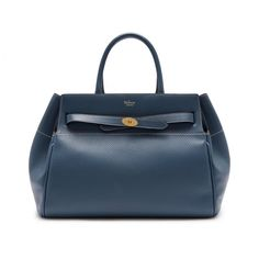Belted Bayswater | Nightfall Heavy Grain | Women | Mulberry Stationery Items, Bond Street, Saved Items, Leather Fabric, Blue Bags, Leather Handle, Hermes Kelly, Timeless Fashion, Gifts For Her