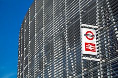The exterior facade of Blackfriars Station in London. Blackfriars station serves both National Rail and London Underground. It is the only station to have platforms that span the river Thames.
