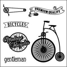 ScrapBerry's Set Of Clear Stamps - Auto Vintage Bicycles Bicycle Shop, Bicycle Art, Bike, Velo Vintage, Vintage Bicycles, Images Vintage, Pebble Painting, Paris Photos, Digital Stamps