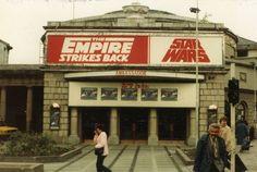 Ambassador Cinema - The Empire Strikes Back - 1980 Dublin Street, Dublin City, Vintage Movie Theater, Vintage Movies, Free Republic, The Empire Strikes Back, Emerald Isle, Dublin Ireland, Old Pictures