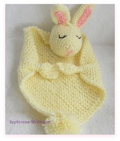 Schmusetuch Knuddeltuch Schnuffeltuch Hase Geschenk zur Geburt gehäkelt crochet lovey blanket cuddle