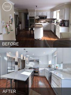 Derek & Christine's Kitchen Before & After | Home Remodeling Contractors | Sebring Services
