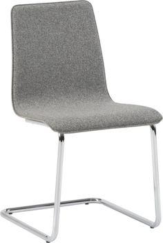 giddyup.  Iconic Breuer style chrome plated base adds a little bounce to comfy one-piece saddle suited up in smart salt/pepper tweed. Poly tweed continuous seat and backChrome plated iron legs form a u-shaped baseWipe spills immediately; dust frame with a soft, dry clothMade in Taiwan. $130