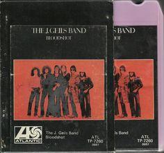 THE J GEILS BAND Blood Shot ROCK BLUES GROUP 8 TRACK TAPE MUSIC ALBUM