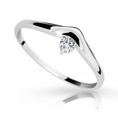 snowwhite/gold engagement ring with a round brilliant diamond (fashion design: Danfil Diamonds) Gold Engagement Rings, Wedding Rings, Her Smile, Brilliant Diamond, Diamonds, Fashion Design, Jewelry, Jewlery, Jewerly