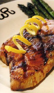Drick's Rambling Cafe: Grilled Salmon with BBQ Sauce