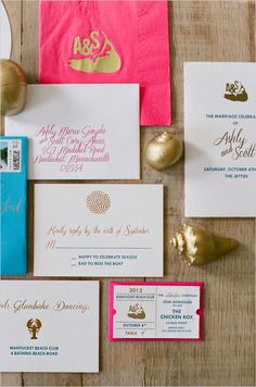 wedding invitations by Chocolate Creative Design