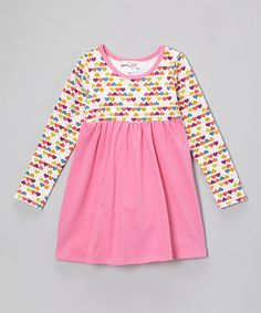 Sweet Jewelea Hot Pink Heart Empire-Waist Dress - Infant, Toddler & Girls by Sweet Jewelea #zulily #zulilyfinds