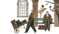 Qué fácil es confundirse entre la multitud, como demuestra Perdut a l'estació (Perdido en la estación), que publican Enric LLuch e Iban Battenetxea en la colección Primers Contes de Bromera.
