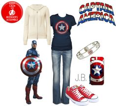 """Captin America"" by chicgeek42 on Polyvore"