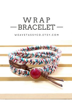 Bohemian Wrap Bracelet by @WeaveTassyCo   If you're looking for a colorful bracelet, this triple wrap bracelet is perfect for a boho or even a casual everyday look! It's easy to wear and very comfortable for everyday use. Just wrap it around your wrist three times, secure with the button lock and you're good to go! Click to see more colors.