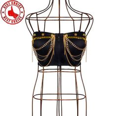 Gold Chain Men Outfit Super sexy chain gold bustier - Super sexy chain gold bustier with tassels Burning Man Outfits, Bustiers, Gold Chains For Men, New York Fashion, Jewelry Collection, Sexy, Tassels, Cool Style, Women Jewelry