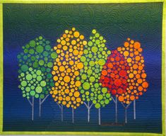 """A Bloggers' Quilt Festival Quilt- """"Autumn in New York"""" by Diane Evans - Amy's Creative Side"""