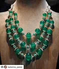 @monsieurcatloves.  Just say maharajah, and I will come! @katerina_perez. Extraordinary Maharani #necklace with Colombian #emeralds and #diamonds by #NiravModi @niravmodijewels