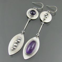 amethyst long earrings by NRjewellerydesign, via Flickr