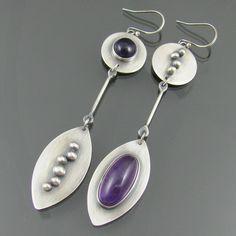 amethyst long earrings by NRjewellerydesign, via Flickr