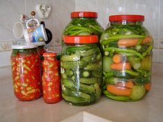 Canned Food, Can Food, Canned Vegetibles Pasta, Soup Starter, Turkish Recipes, Pickles, Cucumber, Food To Make, Vegan Recipes, Food And Drink, Favorite Recipes