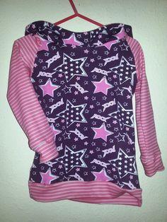 Basic Kaputzenshirt Shirt Rockstars Gr. 86/92 von MiniDreams auf DaWanda.com