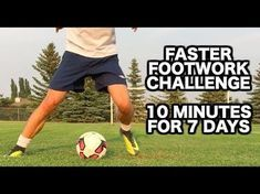 (74) How to improve your footwork in soccer | 10 Soccer drills for faster soccer footwork - YouTube
