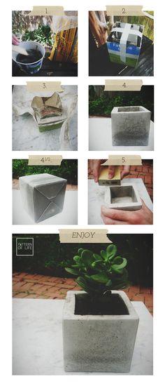 concrete planter DIY | PATTERN OF LIFE