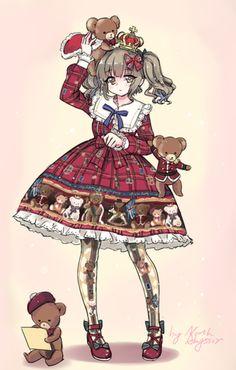 动漫 插画 人物 萝莉 洋服 洛丽塔 洋装 Lolita 画师: NAbyssor@仕事が忙しい [pixiv]