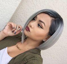 Beautiful Silver Ombre Hairstyles For Short HairFacebookGoogle+InstagramPinterestTumblrTwitterYouTube