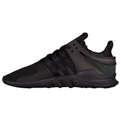 info for 831ad 589c9 Adidas Mens EQT Support ADV Running Sneakers Black Black.